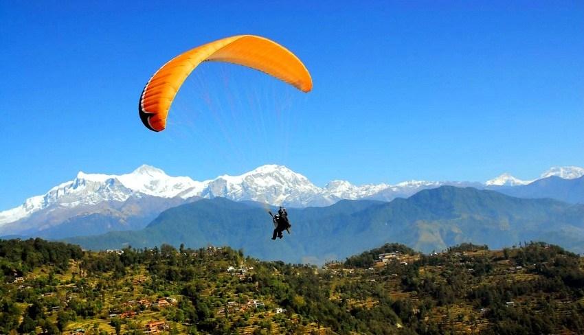 कावासोतीमा प्याराग्लाइडिङ परिक्षण उडान सफल