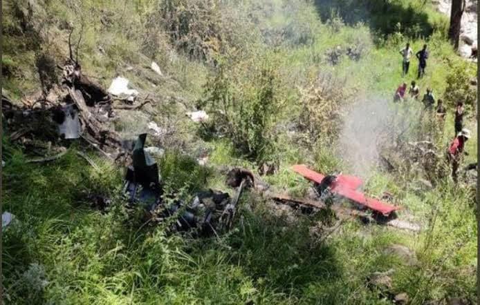 राहत बोकेको हेलिकप्टर दुर्घटना हुँदा पाइलटसहित तीनको मृत्यु