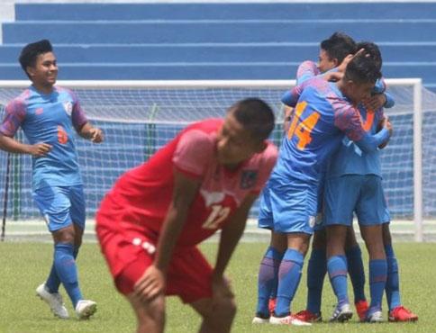फुटबल च्याम्पियनसिपमा नेपाल भारतसँग पराजित