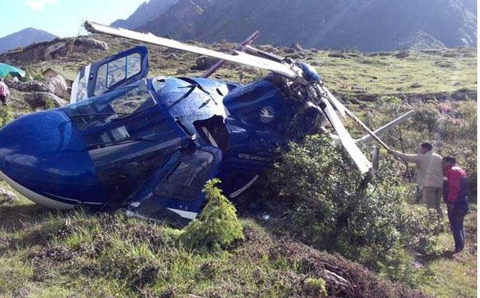 हेलिकप्टर दुर्घटनामा तीनको मृत्यु