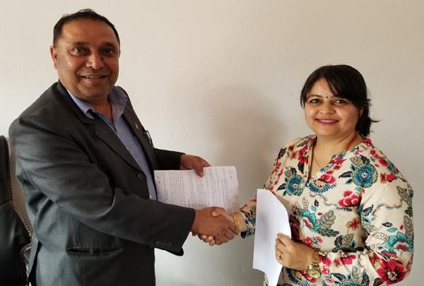 ग्लोबल बैंक र नेपाल खुला विश्वविद्यालय बिच सम्झौता