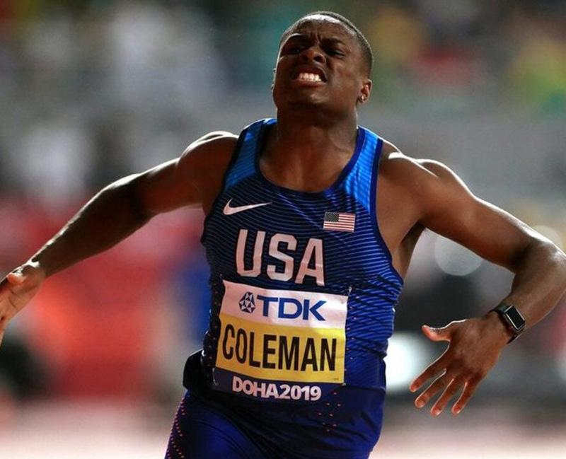 कोलम्यानले जिते १०० मिटरको स्वर्ण पदक