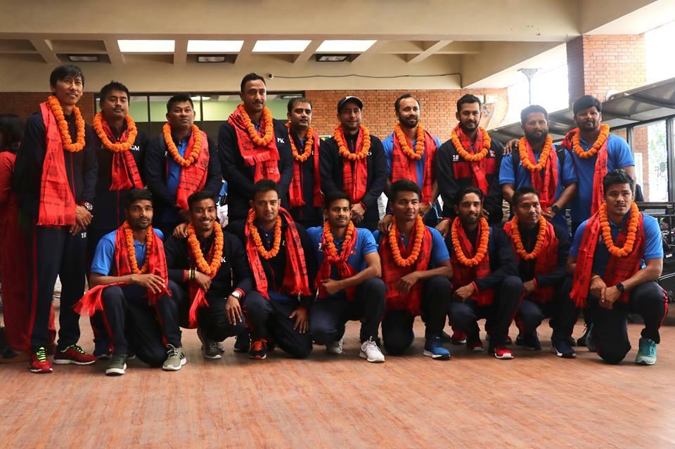एशिया कपमा सहभागि नेपाली क्रिकेट टिम स्वदेश फिर्ता