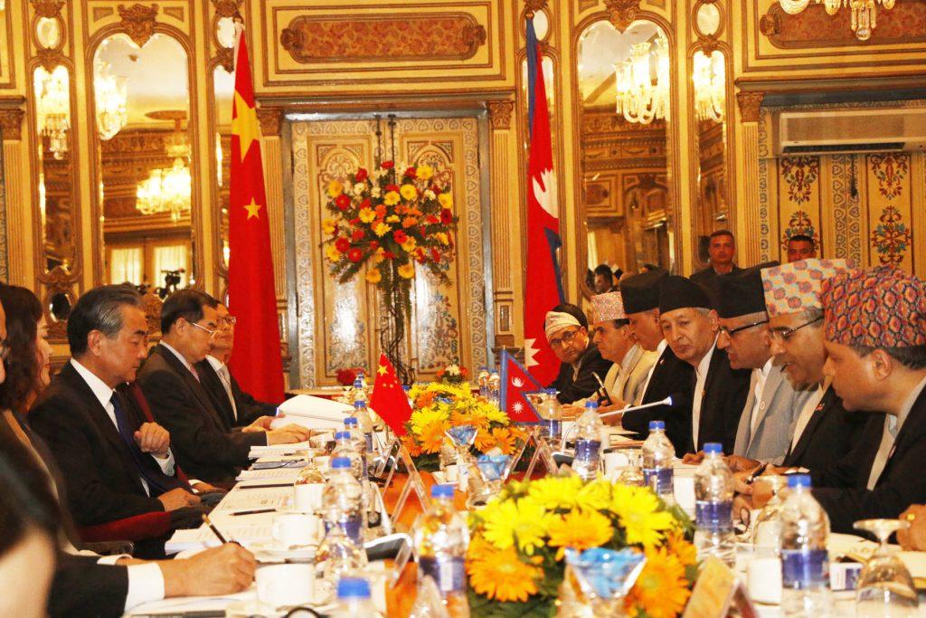 नेपाल–चीन प्रतिनिधिमण्डलस्तरीय वार्ता शुरु