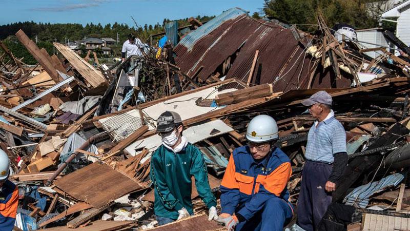 जापानको आँधीमा मृत्यु हुनेको सङ्ख्या ७७ पुग्यो
