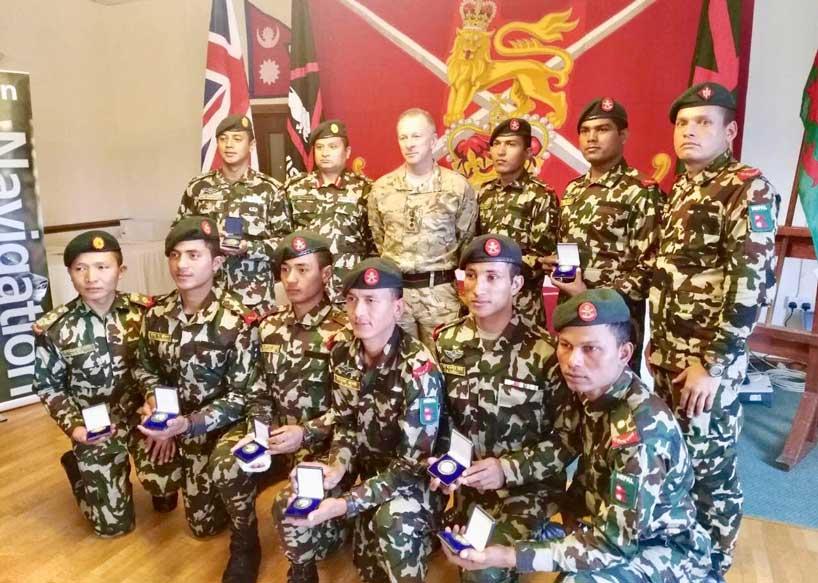 बेलायतमा नेपाली सेनाले स्वर्ण पदक प्राप्त