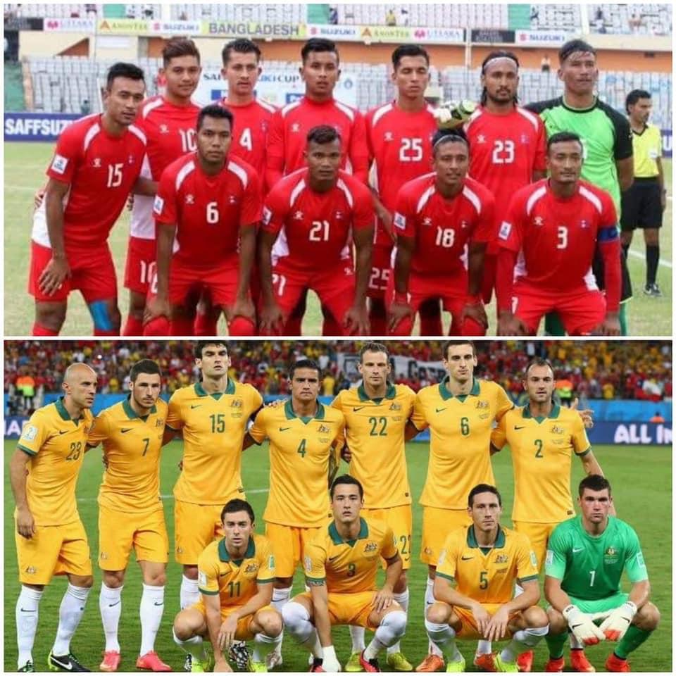 नेपाल अष्ट्रेलियासँग ५–० ले पराजित