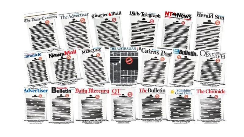 किन कालो बनेर छापिए सोमबार अष्ट्रेलियाका पत्रपत्रिका ?