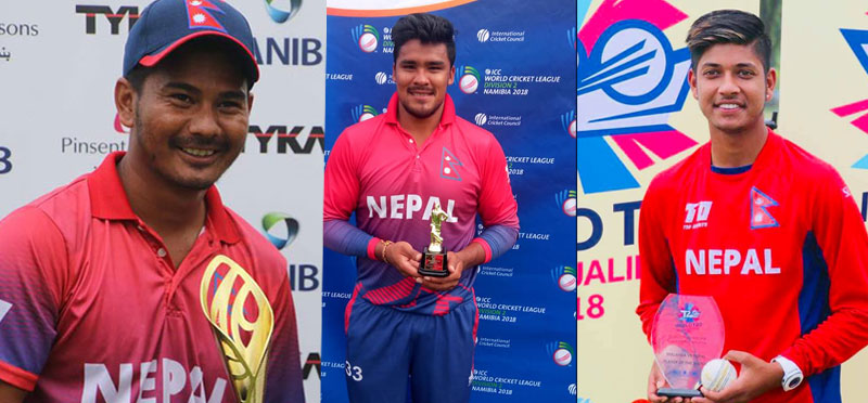 टी ट्वान्टी वरियतामा नेपालका तीन खेलाडी पहिलो पटक समावेश