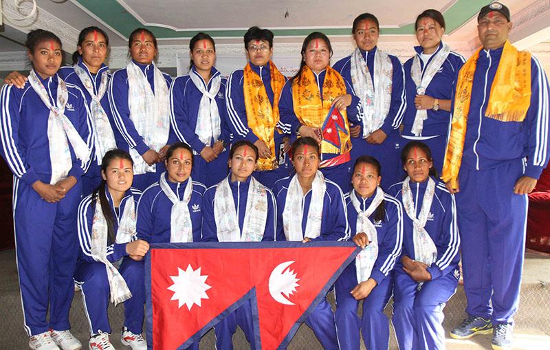 सागमा नेपाली महिला भलिबल टिमको विजयी सुरुवात