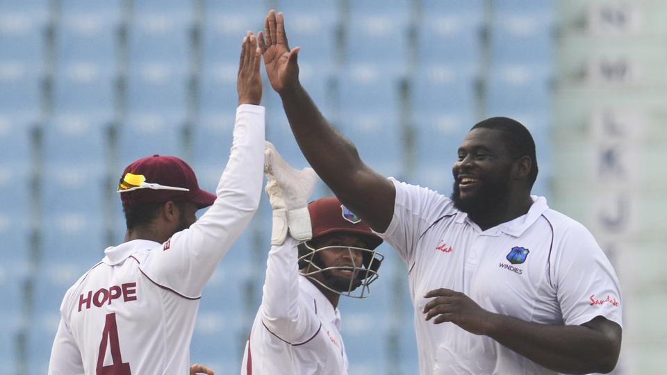 एक मात्र टेस्टमा वेस्टइंडिज ९ विकेटले विजयी