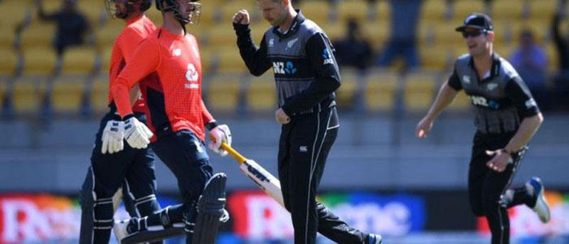 क्रिकेटः न्यूजील्याण्डद्वारा इङ्ल्याण्ड १४ रनले पराजित