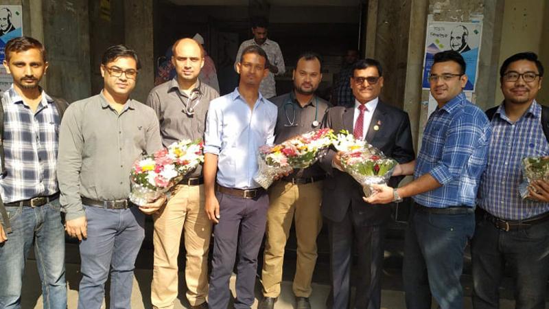 बंगलादेशमा रहेका नेपाली चिकित्सक आवद्ध जेडीसीद्धारा राजदूत मिश्रको स्वागत