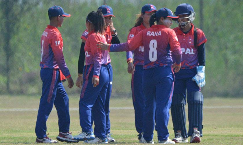 नेपाली महिला क्रिकेट टिम श्रीलंकासँग ४१ रनले पराजित