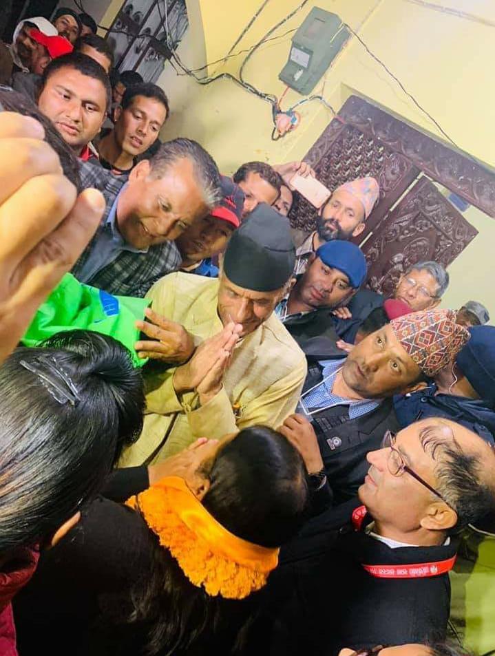 काँग्रेस नेता पौडेलले दिए विद्यालाई शुभकामना, उनको शिष्टताको सबैबाट भयो सरहाना