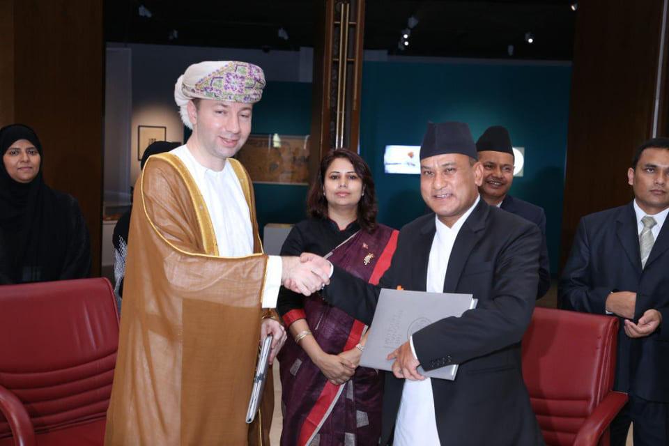 नेपाल र ओमानको राष्ट्रिय संग्रहालय बीच हस्ताक्षर