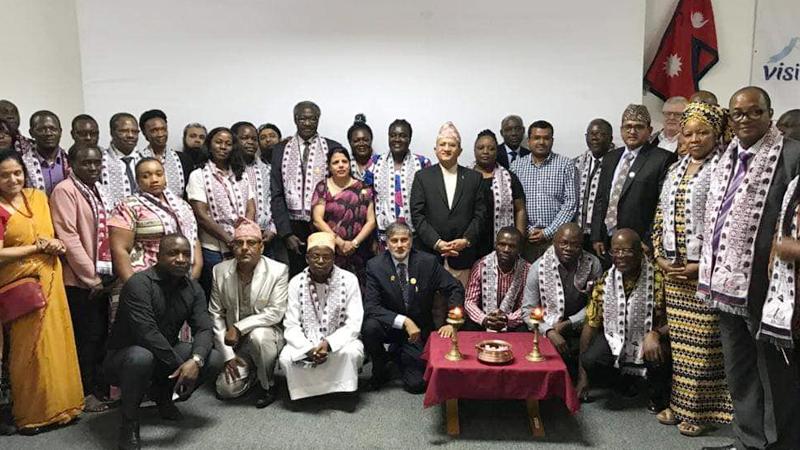 नेपाल भ्रमण बर्ष २०२० को अफ्रिकामा पनि  भव्य कार्यक्रम सम्पन्न