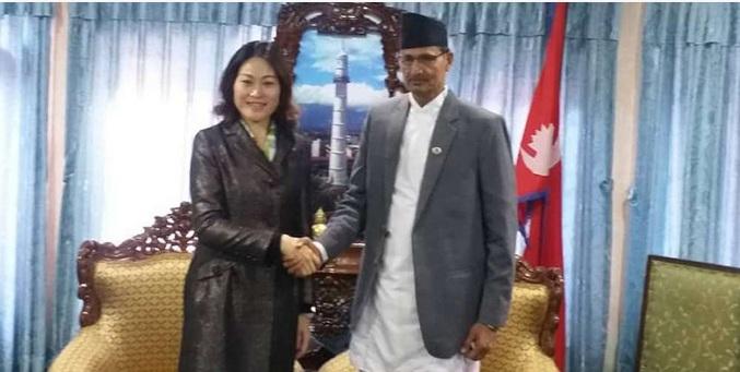 सभामुख सापकोटालाई भेटेरै बधाइ दिईन् चिनियाँ राजदूतले