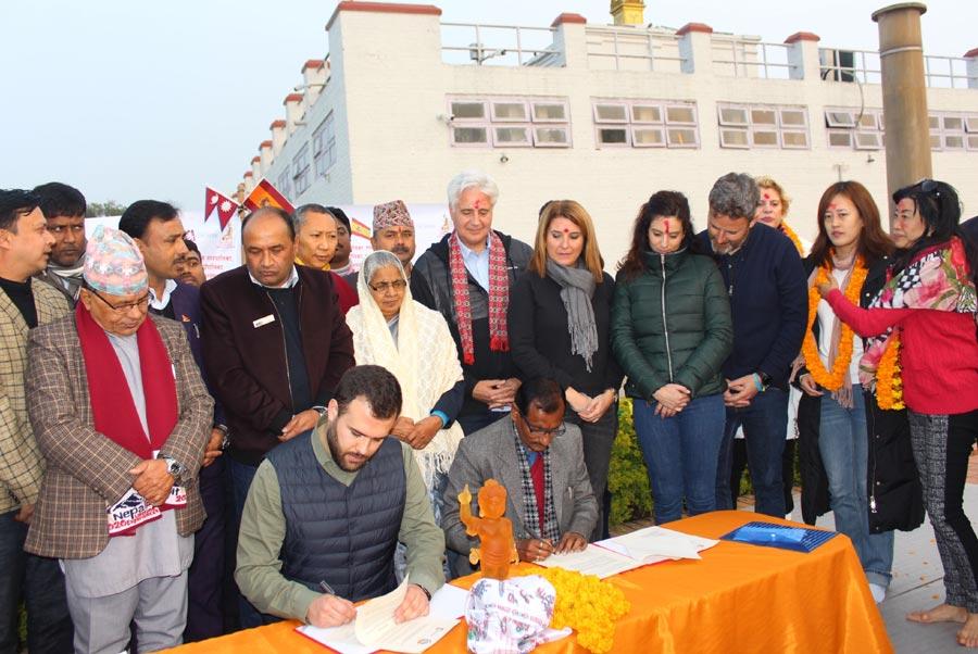 लुम्बिनी र स्पेनको काथेरेस नगरबीच भगिनी सम्बन्ध