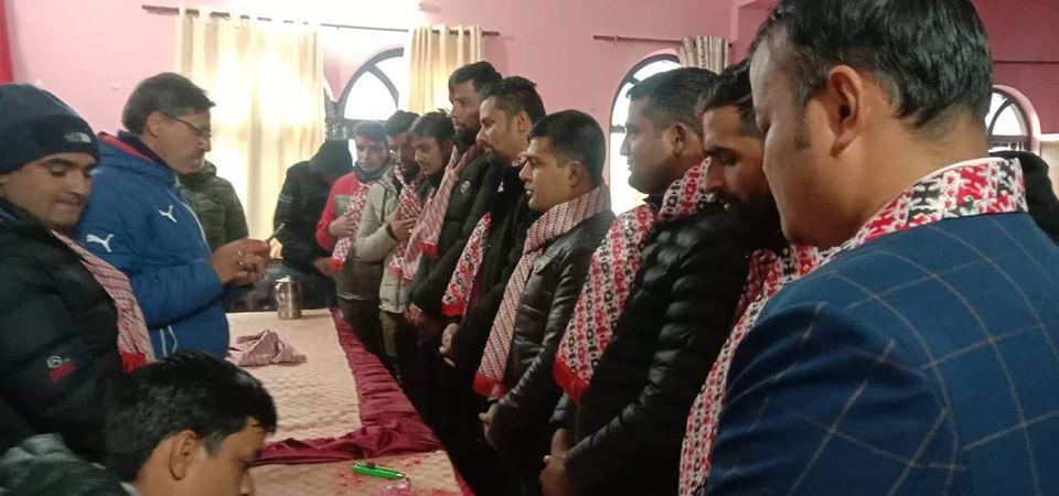 बजार बिक्री प्रतिनिधि संघ पोखरा शाखामा सुरेन्द्रराज अधिकारी