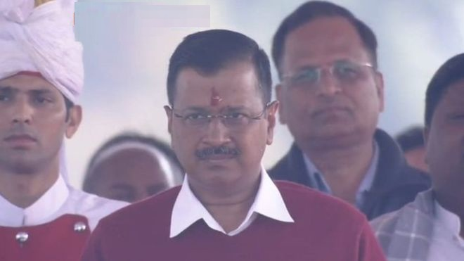तेस्रो पटक दिल्लीका मुख्यमन्त्री बने केजरीवाल , लिए सपथ