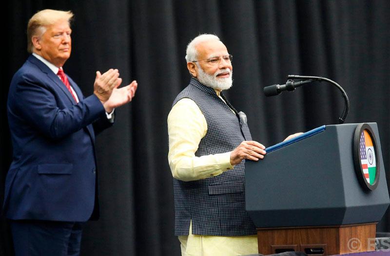 अमेरिकी राष्ट्रपति डोनाल्ड ट्रम्प भारतमा