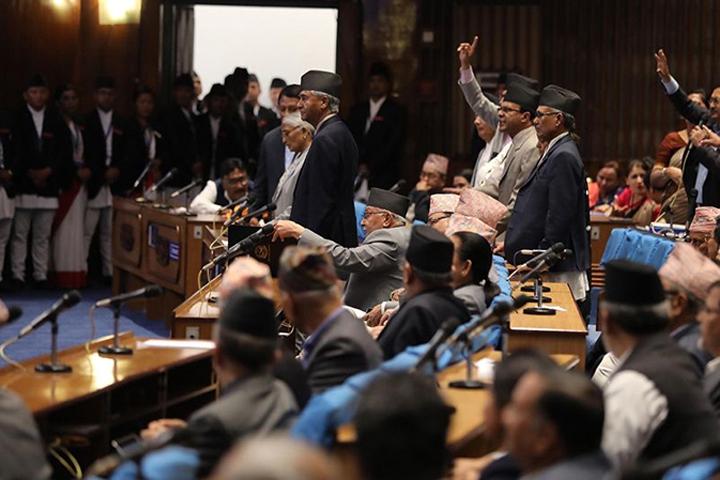 कांग्रेसको अवरोधपछि आइतबार पनि संसद बैठक स्थगित