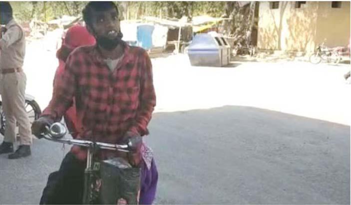 कोरोना कहरः पत्नी सहित ७०० किलोमिटर यात्रा गरेका एक मजदुरको कथा