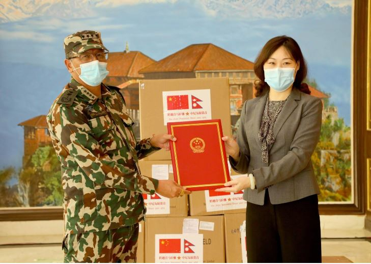Chinese government hands over medical supplies to Nepal Army