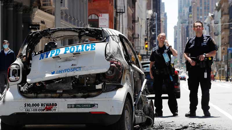 हिंसा भड्किएपछि अमेरिकाका झण्डै ४० सहरमा कफ्र्यु, हजारौ गिरफ्तार