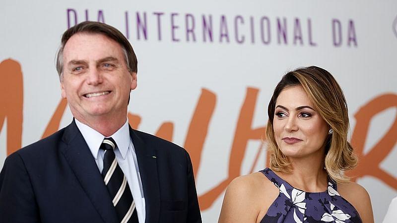 Brazil President Jair Bolsonaro's Wife Michelle Bolsonaro Tests COVID-19 Positive