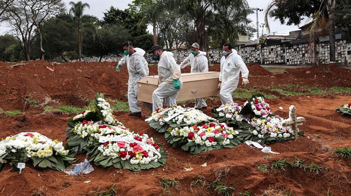 कोरोना संक्रमणबाट ब्राजिलमा १ लाख ३७ हजारको को मृत्य