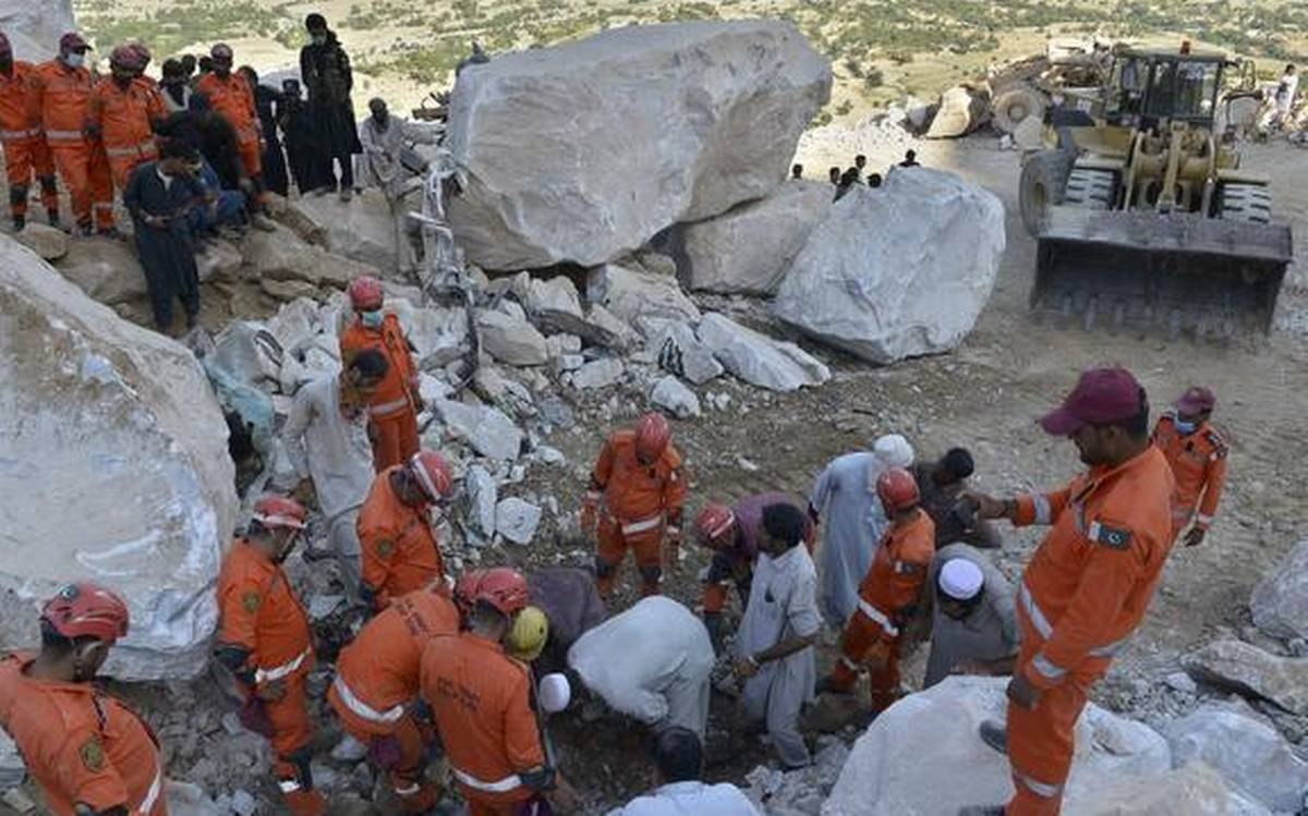 Death toll from marble mine rockslide in Pakistan rises to 22