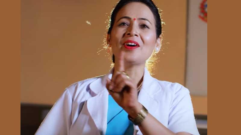 नर्स मिना कार्कीले ल्याइन् नेपालको पहिलो नर्सिङ गीत 'हामी नर्स'