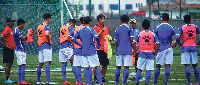 नेपाली राष्ट्रिय फुटबल टोलीको प्रशिक्षण आजदेखि शुरु