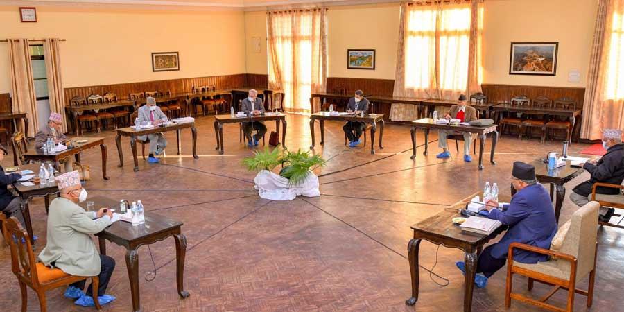 नेकपाको सचिवालय बैठक जारी, दुवै अध्यक्षको प्रस्तावमाथि छलफल हुँदै