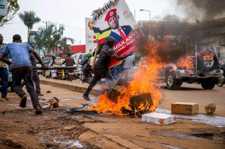 राष्ट्रपतिका उम्मेदवार पक्राउपछि युगान्डामा हिंसात्मक प्रदर्शन, सातको मृत्यु