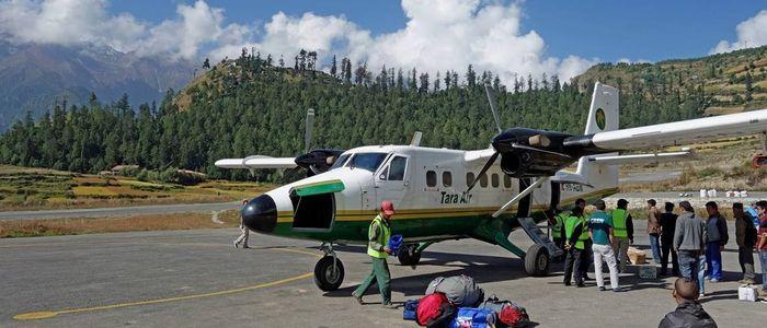 हुम्लामा दुई दिनदेखि हवाई उडान अवरुद्ध
