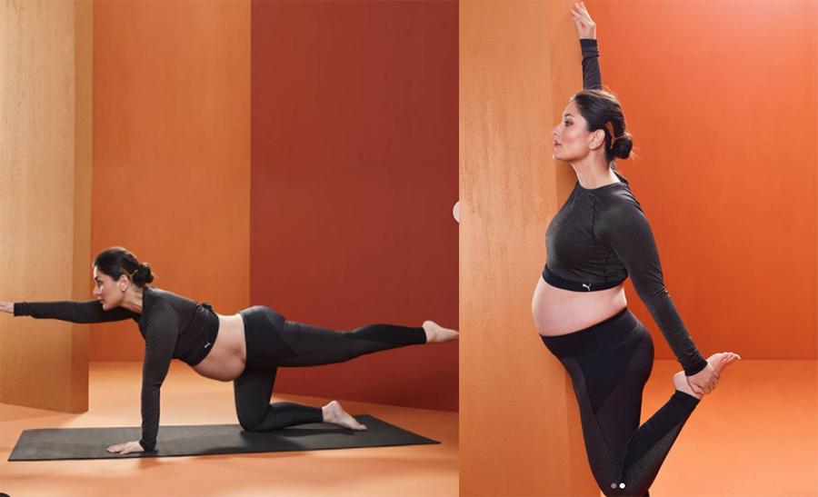 गर्भवती अवस्थामा पनि करिनाको योगा, (हेर्नुस् तस्बिरमा)