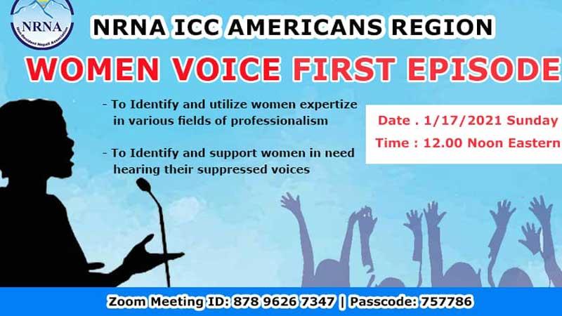 एनआरएनए अमेरिकाज क्षेत्रले महिला आवाज बहस सुरु गर्ने