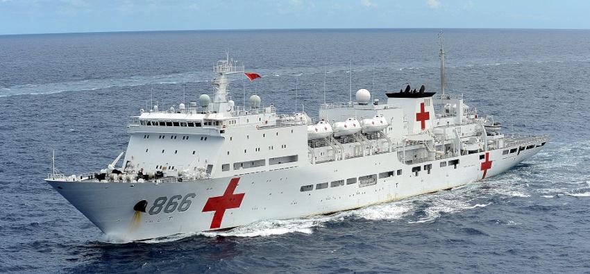 विश्वकै नमूना अस्पतालसहितको जहाजको उत्तरी चीनमा परीक्षण यात्रा सम्पन्न