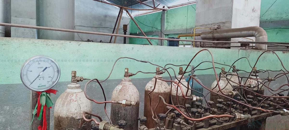 जिल्ला अस्पताल कालीकोटमा अक्सिजन प्लान्ट जडान