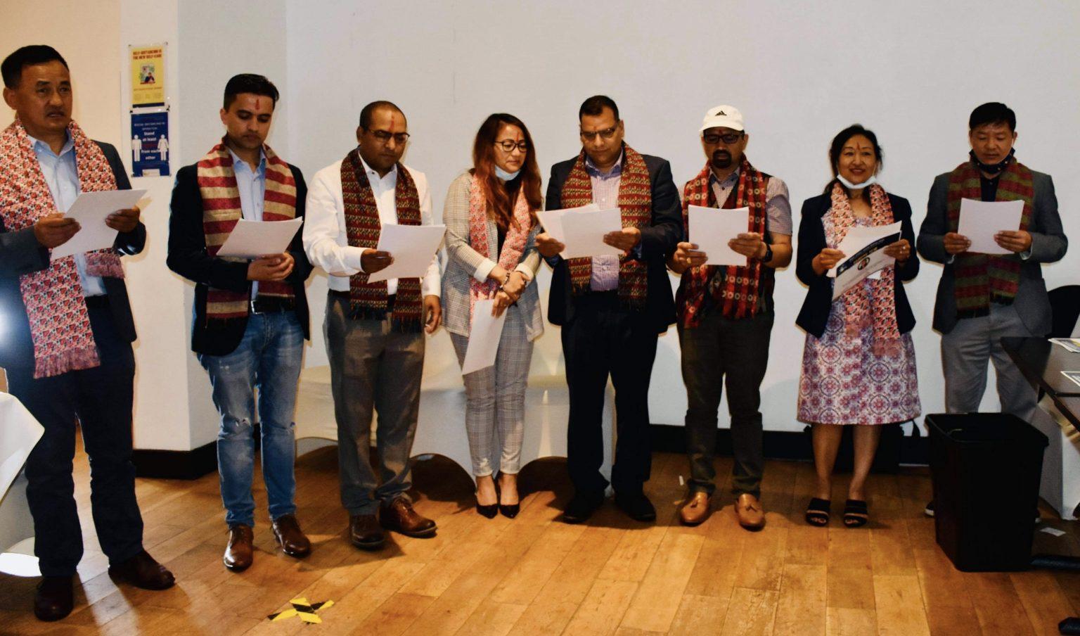 नेपाल पत्रकार महासङ्घ बेलायतमा नयाँ नेतृत्व