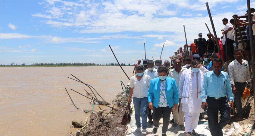कमला नदीको कटान नियन्त्रणका लागि दीर्घकालीन गुरु योजना बनाइने