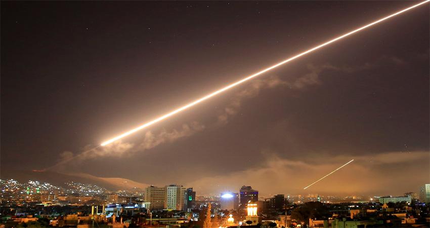 सिरियामा इजरायली मिसाइल आक्रमण