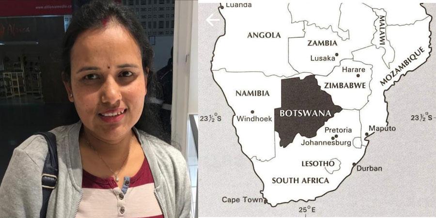 एनआरएनए बोत्स्वानाको अध्यक्षमा शान्ती भण्डारी