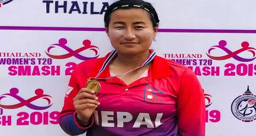 नेपाली राष्ट्रिय महिला टिमकी उपकप्तान सीता रानाको ब्याटिङ बरियतामा सुधार